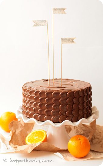 Chocolate Orange Tiger Cake via @hotpolkadot