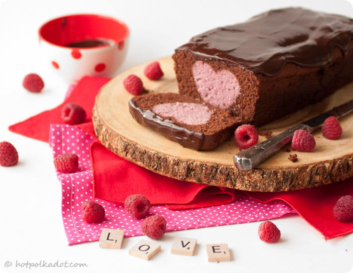 Chocolate Raspberry Forbidden Love Cake via @hotpolkadot