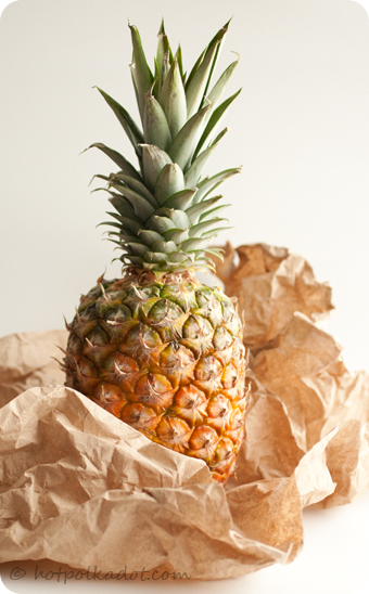 Pineapple beauty shot via @hotpolkadot
